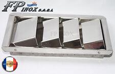 Grille d'aération 4 volets ( Moteur ) 205mmx112mm inox 316