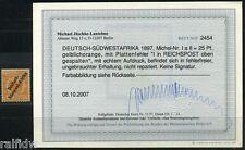 DSW 25 Pfg. Adler 1897 Plattenfehler I gespalten Befund (S8062)