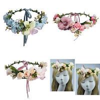 Bridal Boho Flower Headband Crown Garland Festival Wedding Vine Hair Band Wreath