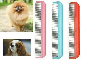 PET DETANGLING LONG HAIR COMB BRUSH WITH ROTATING TEETH PINS DOG PUPPY CAT 6385