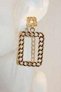 Ohrstecker NEU Ohrringe Gold Style Tredny Modeschmuck Kette Lang 6cm