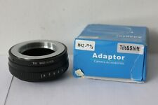 Tilt Adapter M42 Screw Lens to M4/3 Micro Four Thirds Camera Adapter.UK Seller.