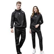 Unisex Polyester Sauna Suit Heavy Sweat Track Fat Slimming Boxing Gym Suit Hot