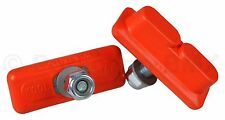 Kool Stop bicycle Continental THREADED brake pads for Skyway Mags ORANGE (PAIR)
