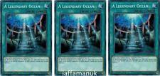 3 x a legendary Océan - ledu-en021 - commun - 1st édition Yu-Gi-Oh ! cartes