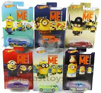 2017 HOT WHEELS DESPICABLE ME DWF12 MINION MADE DIECAST CARS FULL SET 1:64
