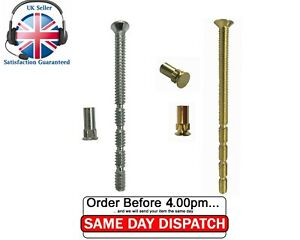 M5 Patio UPVC Door Handle Fixing Bolts Chrome 90mm Snap off M5 Connecting Screws