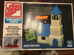 Vintage 1982 Entex Loc Blocs Smurfs Gargamel's Castle Glow In The Dark 1479