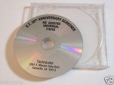 STEVEN SPIELBERG 'E.T. 20TH ANNIVERSARY EDITION' 2002 PROMO DVD