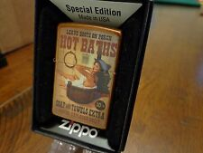 PINUP GIRL COWGIRL HOT BATHS ZIPPO LIGHTER MINT IN BOX