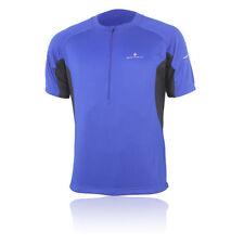 Abbiglimento sportivo da uomo leggera blu manica corta