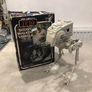 Vintage Star Wars AT-ST Scout Walker 1982 ROTJ Boxed Original Very Rare
