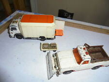 VINTAGE Matchbox King Size K77 K19 TRAIL DUSTER SECURITY TRUCK JOB LOT SNOW