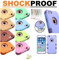 Hybrid Rubber Silicone Gel Hard Protective Case Cover for Apple iPhone 6 6S PLUS