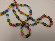 Handmade Millefiori Glass Beads, Qty 10 Cube, Mixed Color, 6x6x6mm, Hole: 1mm
