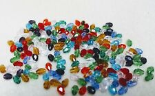 200 Small Briolette Crystal Drop beads 6 x 4mm - Glorious Bejewelled Assortment
