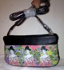 ICON Gustav Klimt Spring Adele Pink Black Small Wallet Bag Art Leather Bag NEW