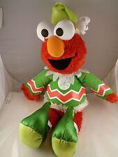 "Sesame Street Talking & Singing Elmo  Christmas Elf  Plush 16"" Fisher Price CUTE"