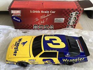 New 1994 RCCA Dale Earnhardt #3 Wrangler 1987 Monte Carlo Bank 1/24