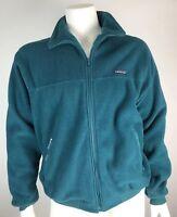 Vintage Patagonia Mens Large Jacket Fleece Zip Up Sweatshirt Teal Blue