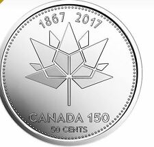 CANADA 2017 50 CENT COIN CELEBRATING 150TH ANNIVERSARY OF CANADA PERFECT COIN!