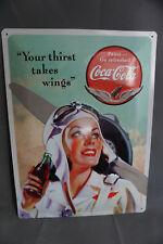 Coca Cola Metall Schild Aufhängen Blechschild 29,5cm x 39,5cm NEU & OVP