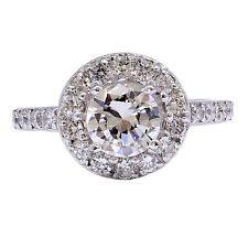 1.94 quilates corte redondo Brillante Halo Diamante H Vs2 GIA