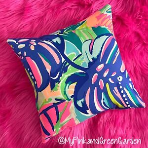 New throw pillow made with LILLY PULITZER Exotic Garden fabric