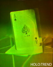 Hologrammbild, 3D, Hologramm, Holographie, Pikas, Totenkopf, Kartenspiel