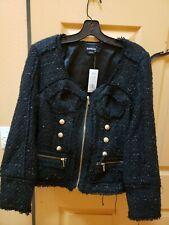 Bebe Black Womens Jacket/Coat Size 10 NWT