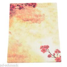 8 Briefblätter Briefpapier Motivpapier Briefumschläge Blumen 18.5cm*26.5cm