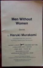 Haruki Murakami~Men Without Women~Rare ARC Advanced Copy