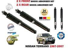 Pour Nissan Terrano 4x4 2 1987-2007 Nouveau 2 x avant + 2 X ARRIÈRE AMORTISSEUR ENSEMBLE