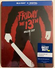 NEW FRIDAY THE 13TH KILLER CUT BLU RAY + DIGITAL HD BEST BUY EXCLUSIVE STEELBOOK