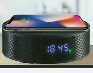 Daewoo Clock Radio Bluetooth Rechargeable Speaker With Qi Wireless Charging new