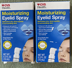 CVS Health 2 Pack Moisturizing Eyelid Spray-RefresheS Dry,Tired Eyelids Exp 5/22