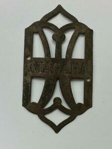 early antique Westfield NIAGARA bicycle HEAD BADGE tag Columbia