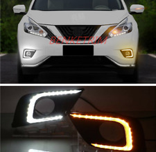 Fit For Nissan Murano 16-2018 DRL LED Driving white light + turning yellow light