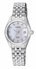 Citizen EU6050-59D Women's Stainless Steel MOP Dial Swarovski Elements Watch