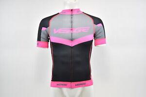 Verge Women's 2XL Triumph Strike Short Sleeve Cycling Jersey Black/Pink/Grey