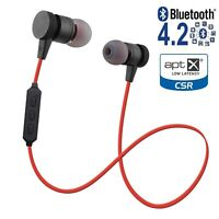 Metal Magnetic Wireless Bluetooth Headphones Earbuds Headset iPhone Samsung