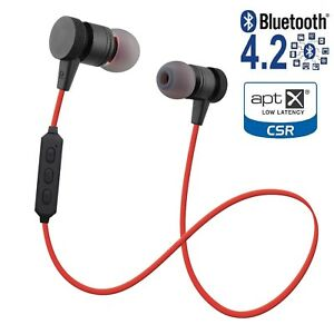 Metal Magnetic Wireless Bluetooth Headphones Earbuds Headset iPhone Samsung