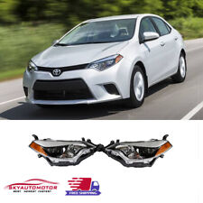 Fits for 2014' 2015' 2016' Toyota Corolla Headlights Black Factory Style Pair (Fits: Toyota)