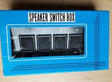 SPEAKER SWITCH BOX 4 WAY - 4 ZONE MULTI STEREO SPEAKER SELECTOR CONTROL
