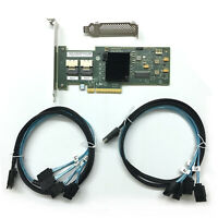 LSI SAS 9210-8i 8-port 6Gb/s PCIe x8 HBA RAID + SAS SFF-8087 to 4x SATA Cable