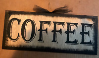 COFFEE latte tea cappuccino country primitive 5x12  kitchen home decor wood sign