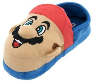 Super Mario and Luigi Slippers for Kids Size 2-3 Youth