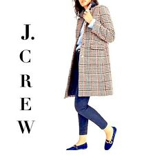 J CREW Plaid Single Breasted Topcoat Sz 12 J5572 NEW SOLD OUT
