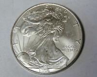 1996 American Silver Eagle 1 oz .999 Fine Silver Dollar Off Quality (122019)