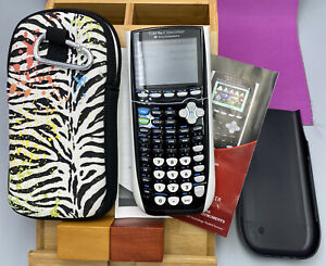 TI-84 Plus C Silver Edition RECHARGEABLE Graphing Calculator GUC w/Case
